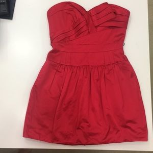 Beautiful BCBGMAXAZRIA red satin cocktail dress